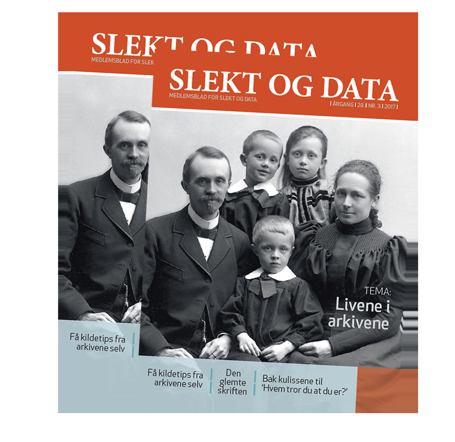 Slekt og Data temanummer om Arkiv