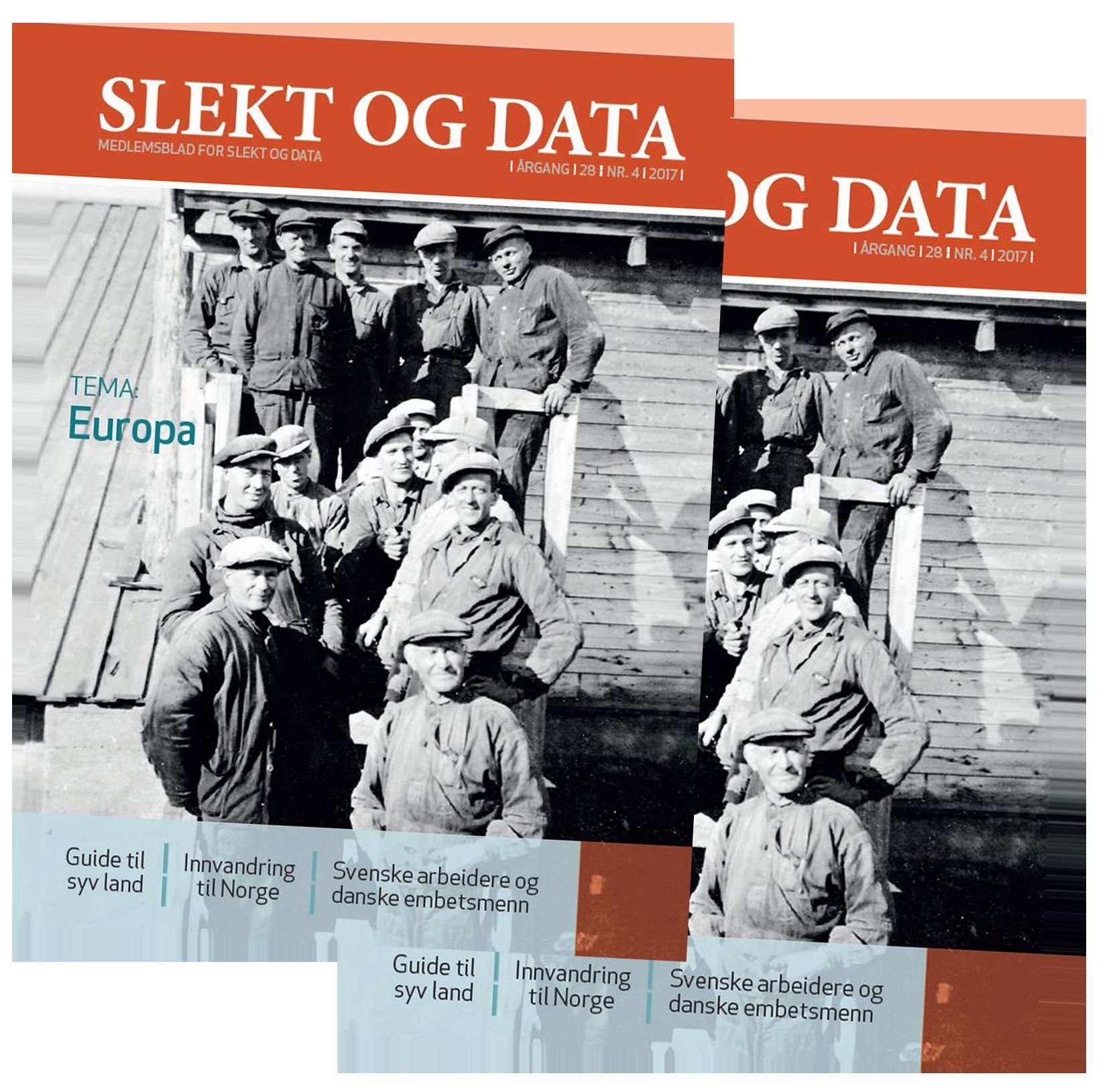 Omslag på Slekt og Data nummer 4-2017