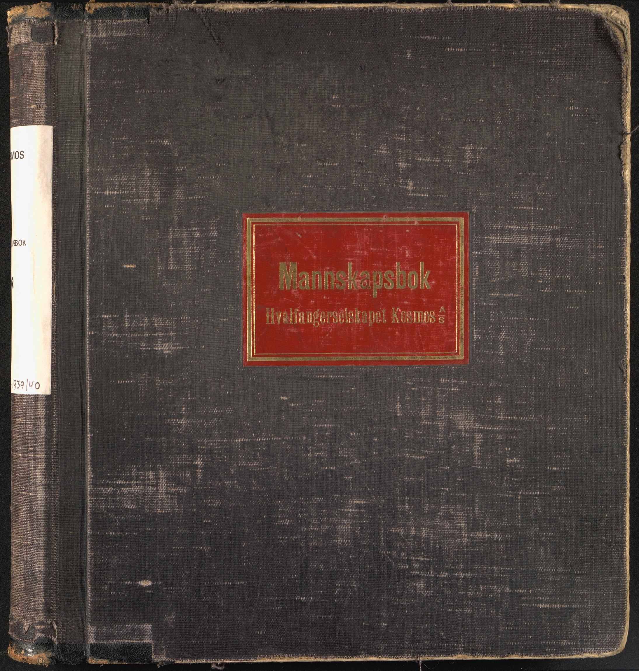 Mannskapsbok - AS Kosmos
