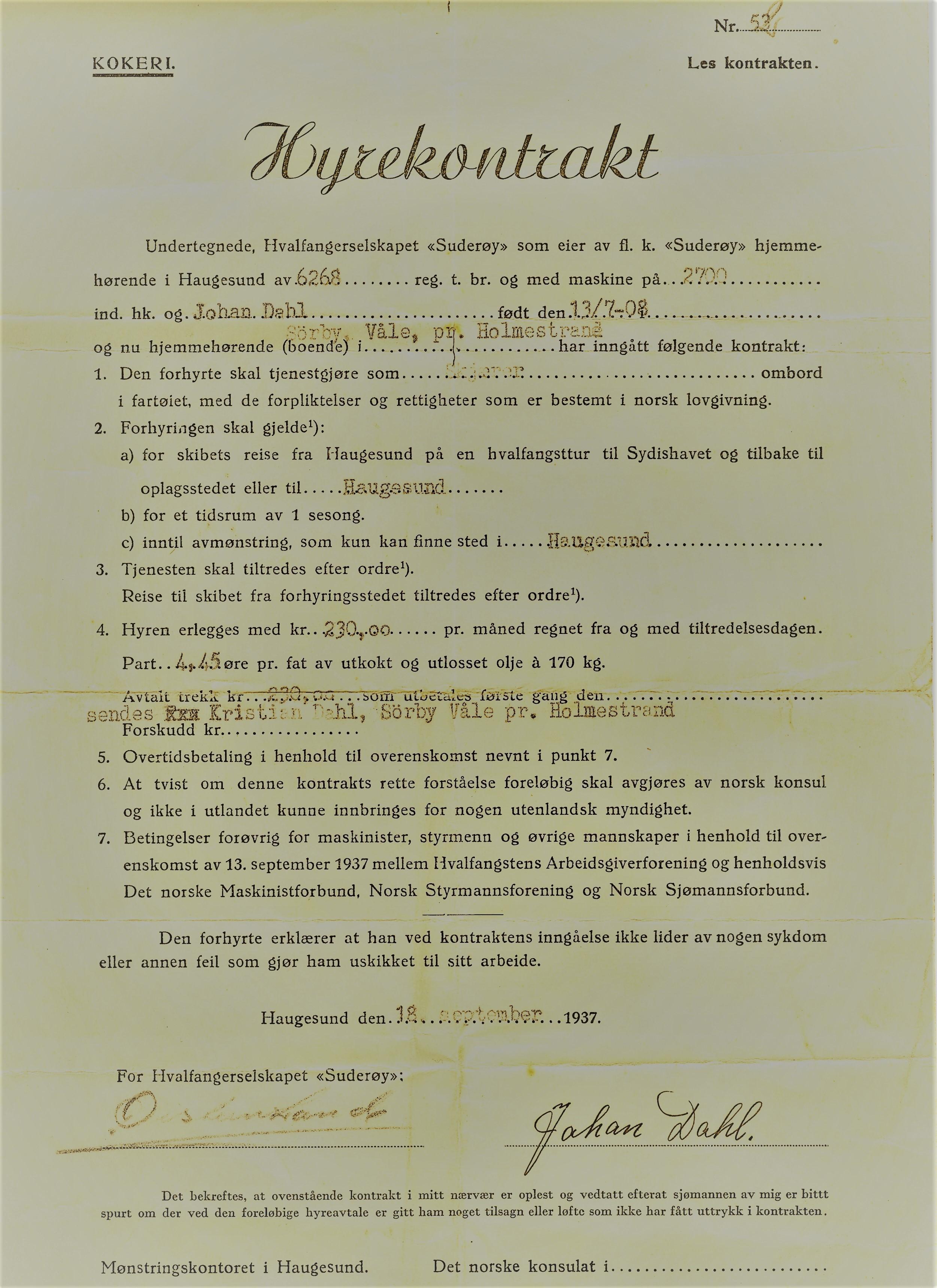 Hyrekontrakt 1