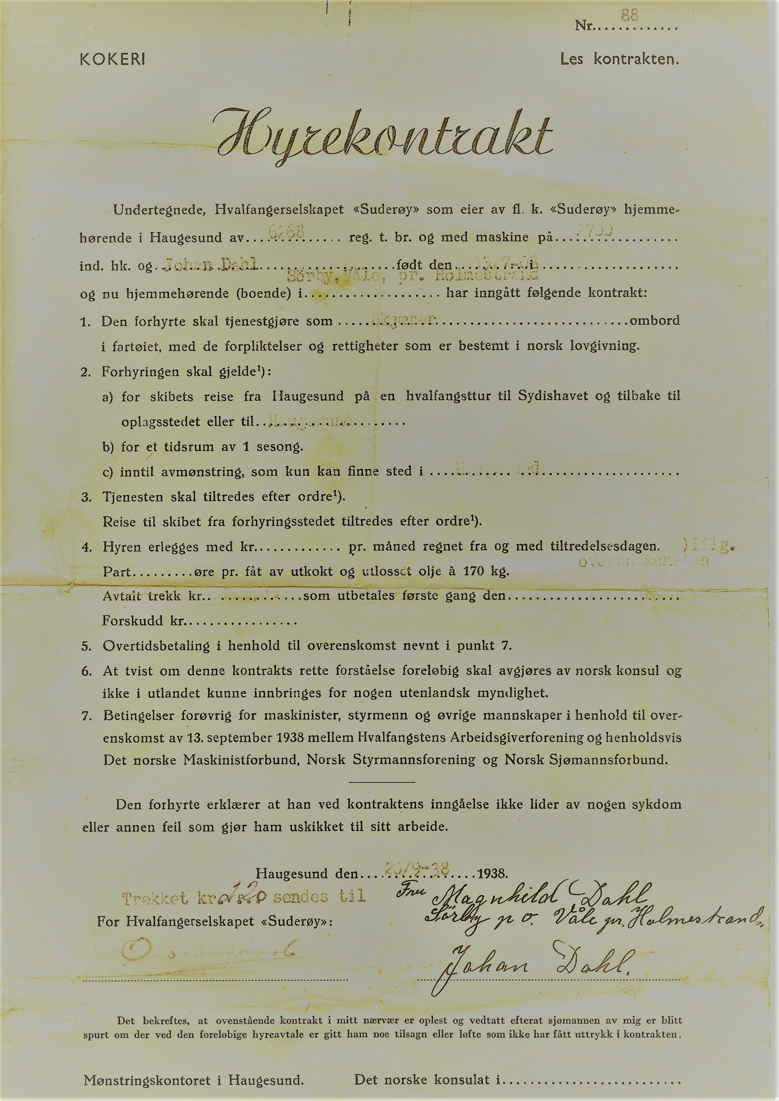 Hyrekontrakt II