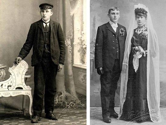 Andreas konfirmasjon og brudebilde med Anna Lovise. Private bilder. Fotograf Hans Joakim Norland