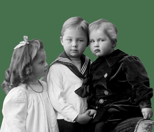 Slekt og Data - sorthvitt bilde av barn
