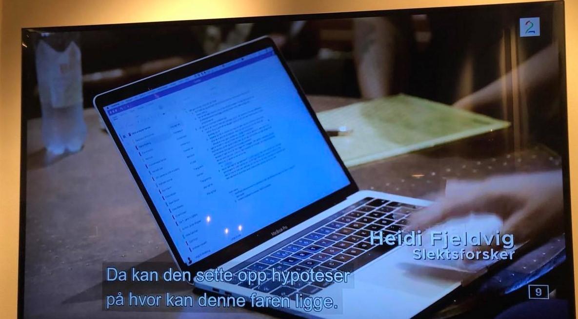 Skjermbilde av PC fra tv-programmet Norge bak fasaden