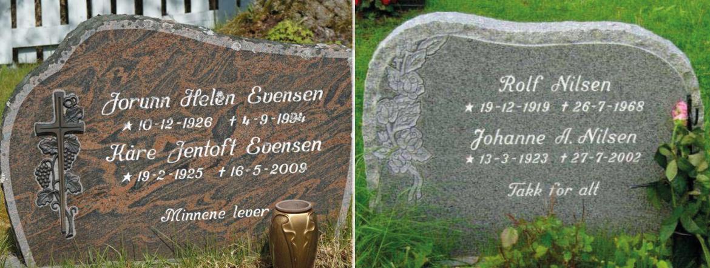 Gode bilder av gravminner