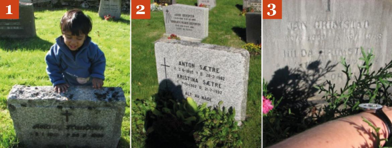 Dårlige bilder av gravsteiner 4