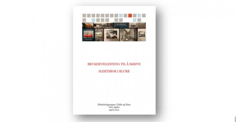 Brosjyre for hvordan lage bøker i Blurb
