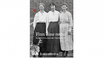 Illustrasjonsbilde til slektsforskningshefte. sorthvitt bilde av tre jenter